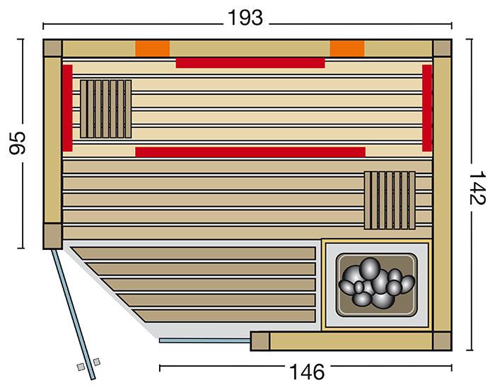 sauna optima. Black Bedroom Furniture Sets. Home Design Ideas